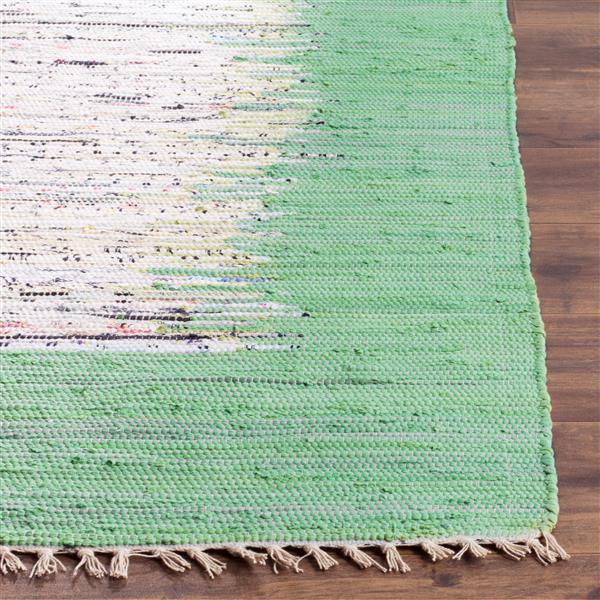 Safavieh Montauk Border Rug - 2.5' x 4' - Cotton - Ivory/Green