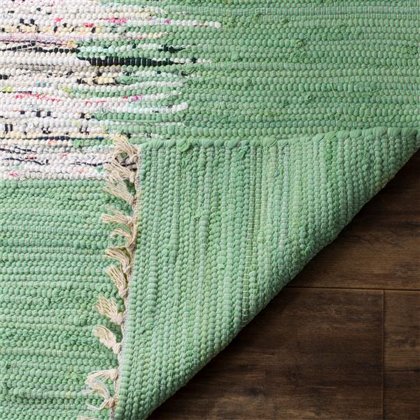 Safavieh Montauk Border Rug - 2.3' x 7' - Cotton - Ivory/Green