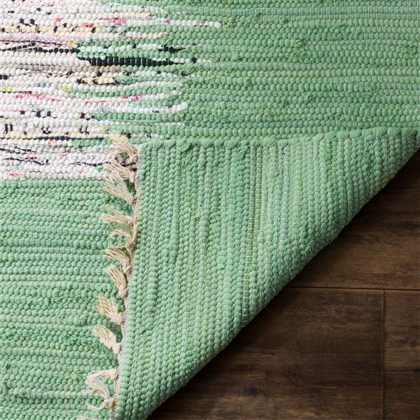 Safavieh Montauk Border Rug - 3' x 5' - Cotton - Ivory/Green