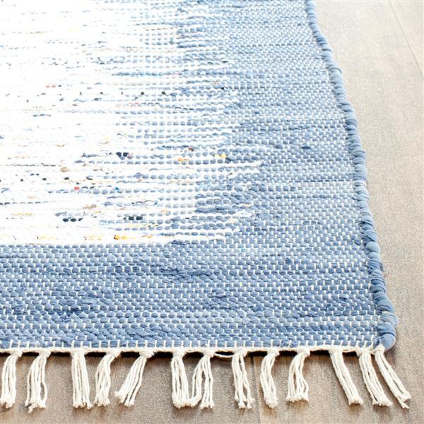 Safavieh Montauk Border Rug - 3' x 5' - Cotton - Ivory/Dark Blue