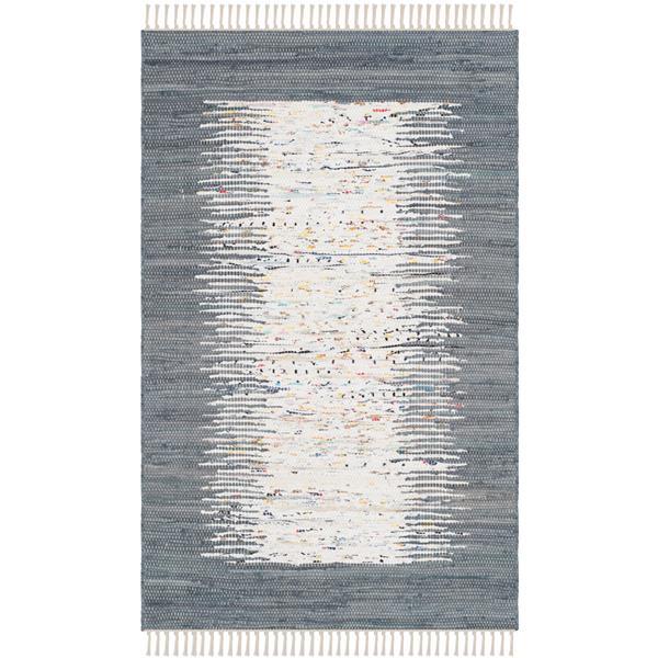 Safavieh Montauk Border Rug - 2.5' x 4' - Cotton - Ivory/Gray