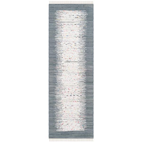 Safavieh Montauk Border Rug - 2.3' x 9' - Cotton - Ivory/Gray