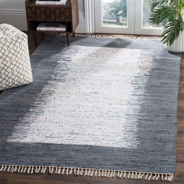 Safavieh Montauk Border Rug - 3' x 5' - Cotton - Ivory/Gray