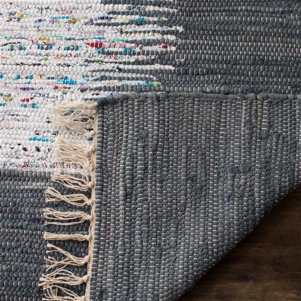 Safavieh Montauk Border Rug - 6' x 6' - Cotton - Ivory/Gray