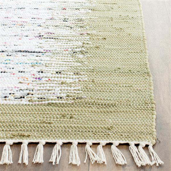 Safavieh Montauk Border Rug - 2.3' x 7' - Cotton - Ivory/Olive