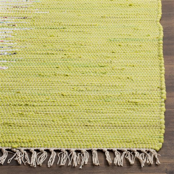 Safavieh Montauk Border Rug - 4' x 6' - Cotton - Ivory/Green
