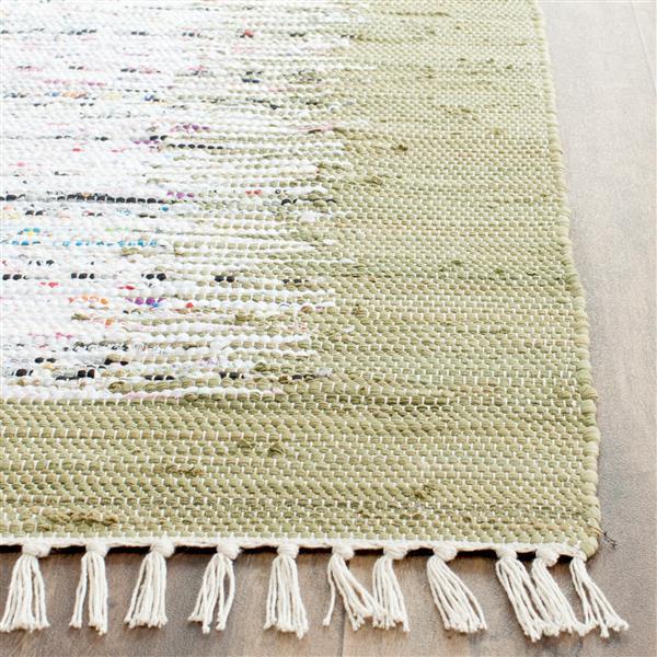 Safavieh Montauk Border Rug - 6' x 6' - Cotton - Ivory/Olive