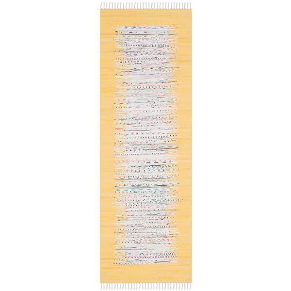 Safavieh Montauk Border Rug - 2.3' x 6' - Cotton - Ivory/Yellow