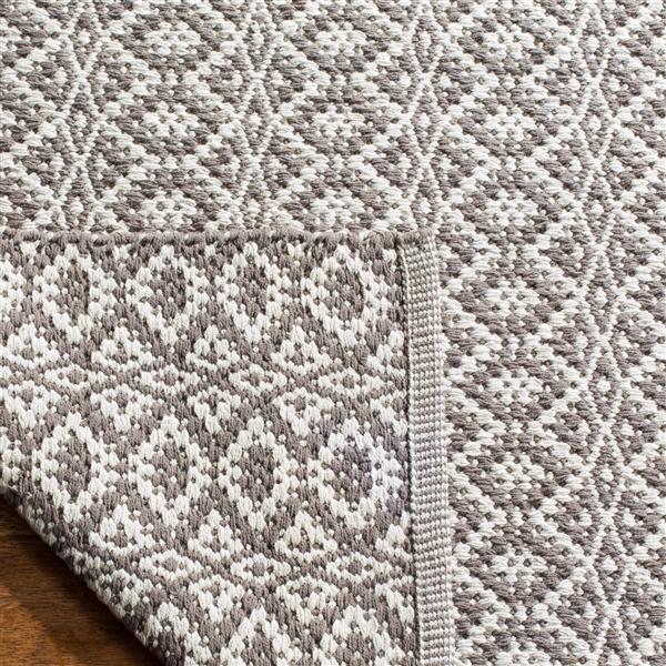 Safavieh Montauk Geometric Rug - 2.3' x 7' - Cotton - Ivory/Gray