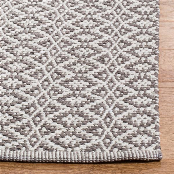 Safavieh Montauk Geometric Rug - 5' x 7' - Cotton - Ivory/Gray