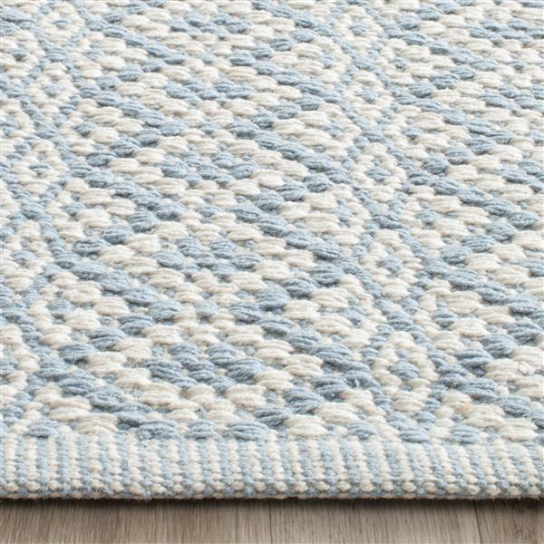 Safavieh Montauk Geometric Rug - 5' x 7' - Cotton - Ivory/Light Blue