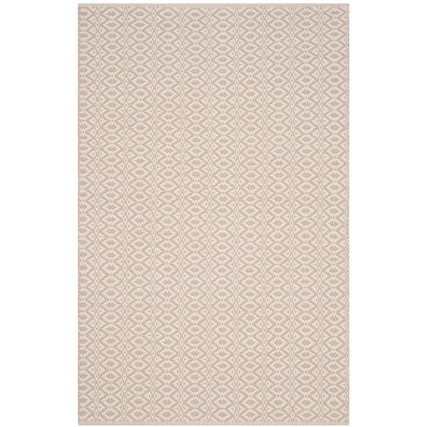 Safavieh Montauk Geometric Rug - 4' x 6' - Cotton - Ivory/Beige