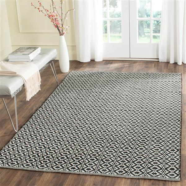 Safavieh Montauk Geometric Rug - 4' x 6' - Cotton - Ivory/Black