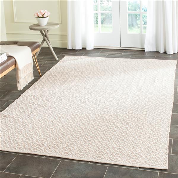 Safavieh Montauk Geometric Rug - 5' x 7' - Cotton - Ivory/Beige