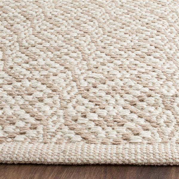 Safavieh Montauk Geometric Rug - 2.3' x 7' - Cotton - Ivory/Beige
