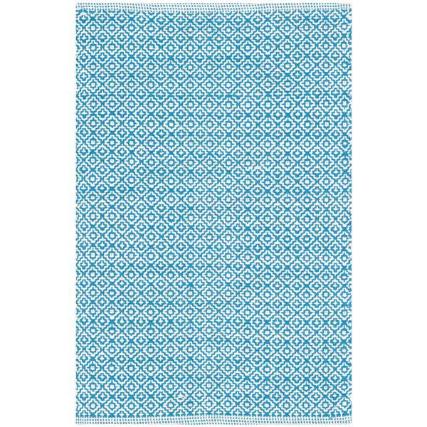 Safavieh Montauk Geometric Rug - 2.3' x 3.8' - Cotton - Ivory/Blue