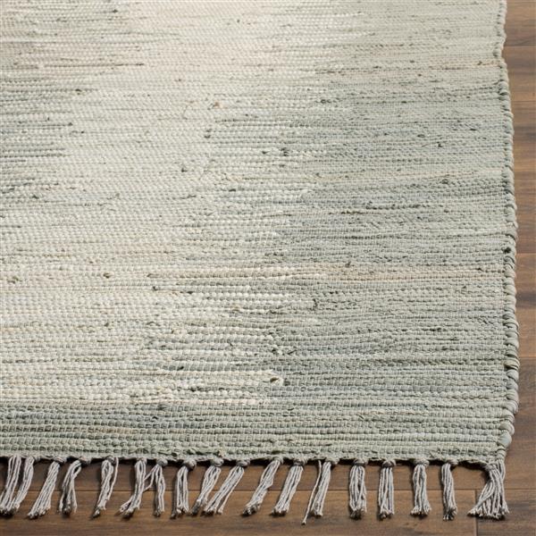 Safavieh Montauk Stripe Rug - 3' x 5' - Cotton - Gray