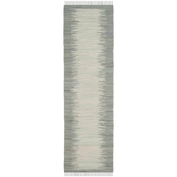Safavieh Montauk Stripe Rug - 2.3' x 7' - Cotton - Gray