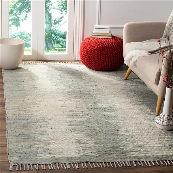 Safavieh Montauk Stripe Rug - 4' x 6' - Cotton - Gray