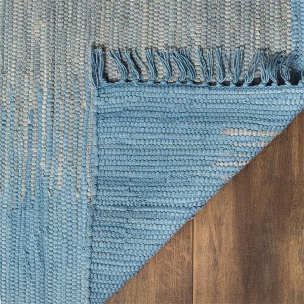 Safavieh Montauk Stripe Rug - 2.5' x 4' - Cotton - Light Blue