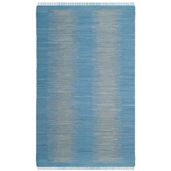 Safavieh Montauk Stripe Rug - 4' x 6' - Cotton - Light Blue