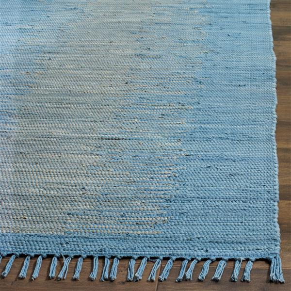 Safavieh Montauk Stripe Rug - 6' x 6' - Cotton - Light Blue