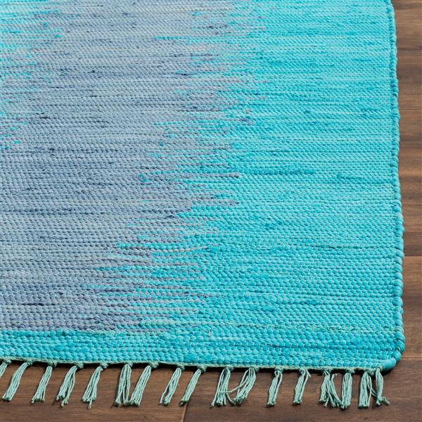 Safavieh Montauk Stripe Rug - 4' x 6' - Cotton - Turquoise