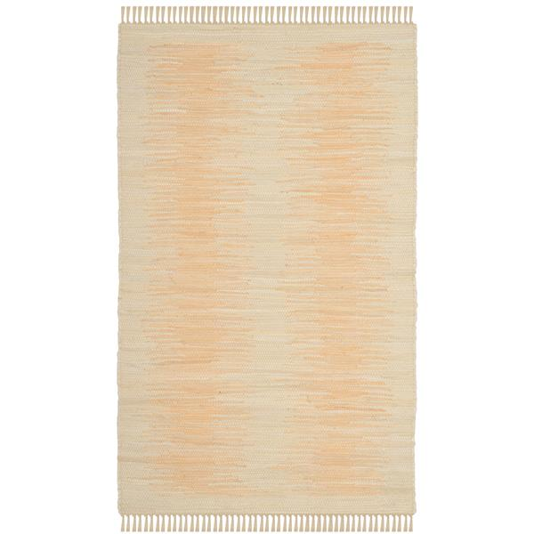 Safavieh Montauk Stripe Rug - 2.5' x 4' - Cotton - Ivory