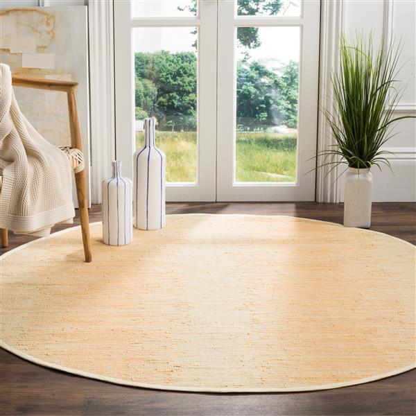 Safavieh Montauk Stripe Rug - 6' x 6' - Cotton - Ivory
