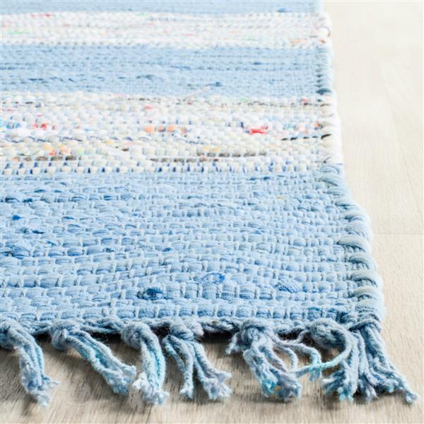 Safavieh Montauk Rug - 2.3' x 3.8' - Cotton - Ivory/Turquoise