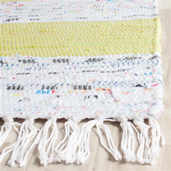 Safavieh Montauk Stripe Rug - 4' x 6' - Cotton - Ivory/Light Green
