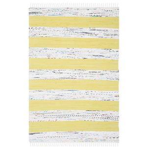 Montauk Stripe Rug - 4' x 6' - Cotton - Ivory/Light Green