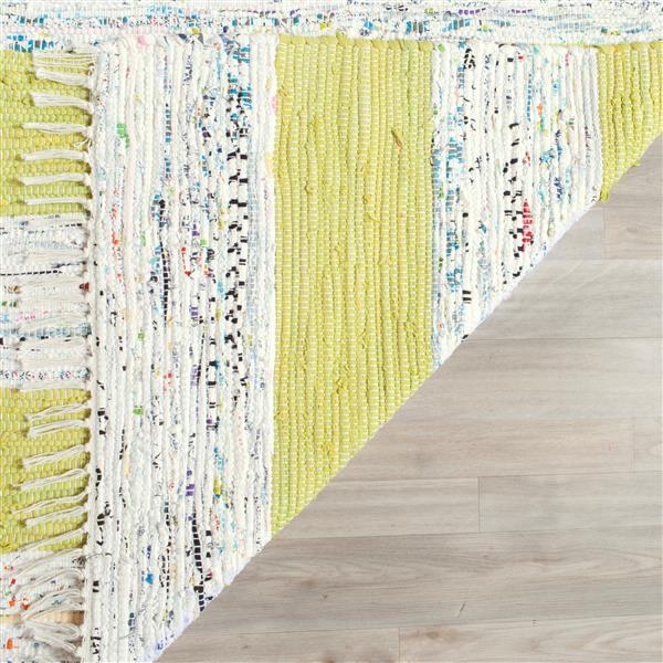 Safavieh Montauk Stripe Rug - 2.3' x 7' - Cotton - Ivory/Light Green