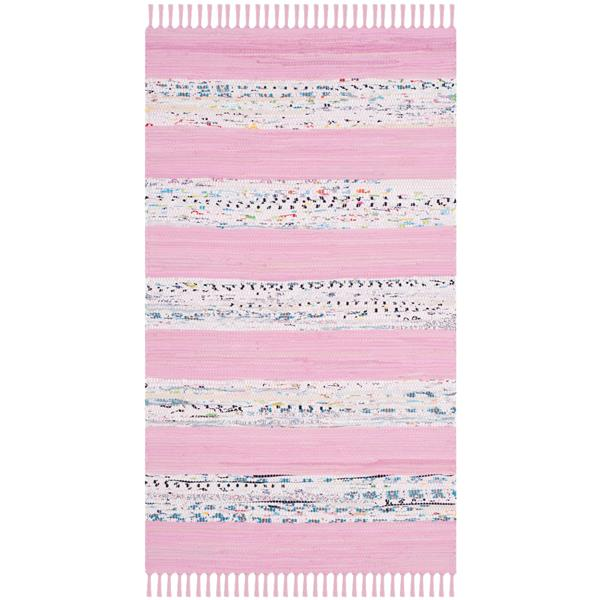 Safavieh Montauk Rug - 2.3' x 3.8' - Cotton - Ivory/Light Pink