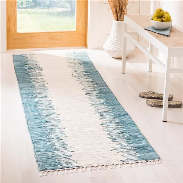 Safavieh Montauk Stripe Rug - 2.3' x 5' - Cotton - Blue