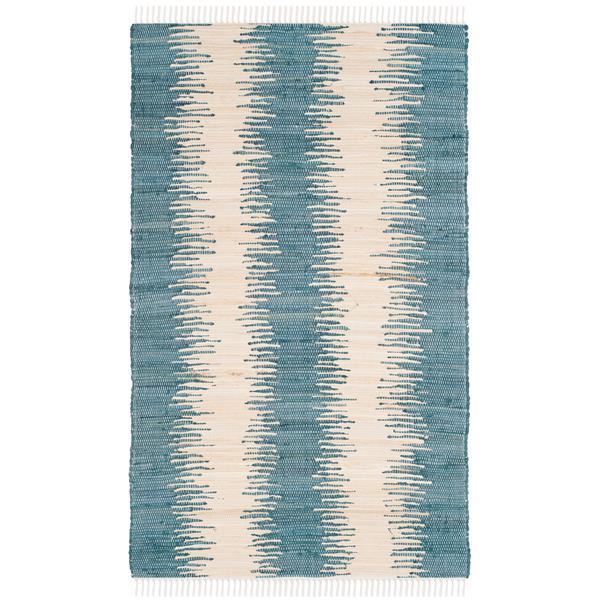 Safavieh Montauk Stripe Rug - 3' x 5' - Cotton - Blue