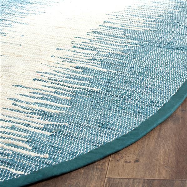 Safavieh Montauk Stripe Rug - 4' x 6' - Cotton - Blue
