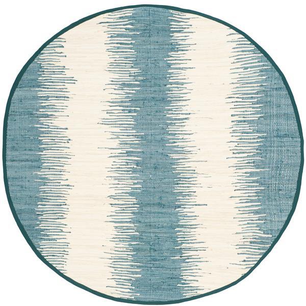 Safavieh Montauk Stripe Rug - 6' x 6' - Cotton - Blue