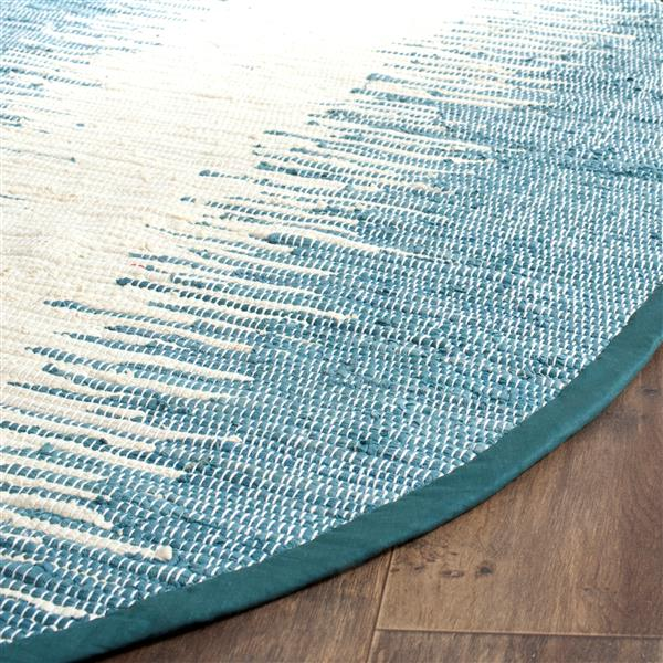 Safavieh Montauk Stripe Rug - 4' x 4' - Cotton - Blue
