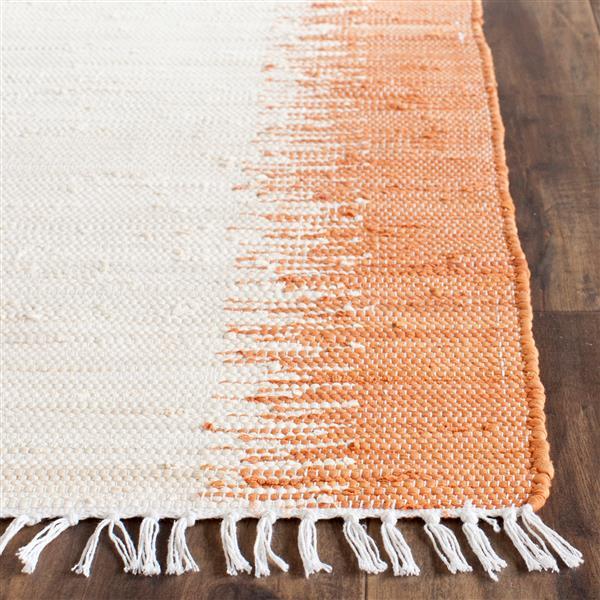 Safavieh Montauk Stripe Rug - 2.5' x 4' - Cotton - Orange