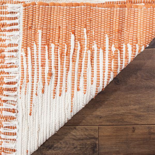 Safavieh Montauk Stripe Rug - 2.3' x 7' - Cotton - Orange