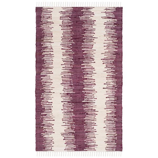 Safavieh Montauk Stripe Rug - 2.5' x 4' - Cotton - Purple