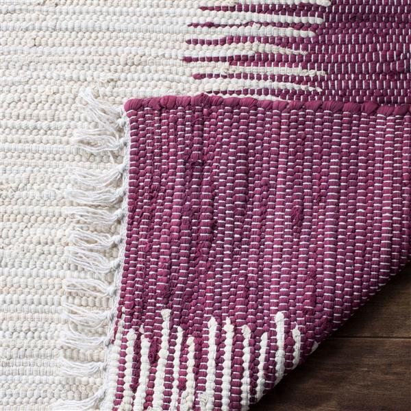 Safavieh Montauk Stripe Rug - 2.3' x 6' - Cotton - Purple