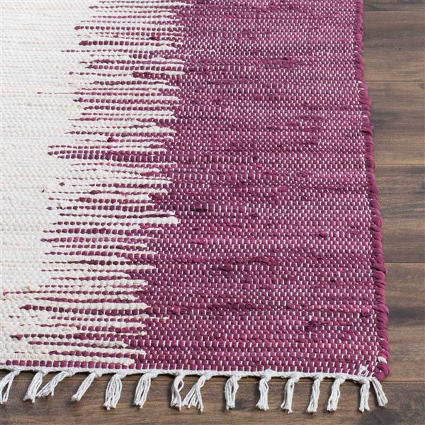 Safavieh Montauk Stripe Rug - 3' x 5' - Cotton - Purple