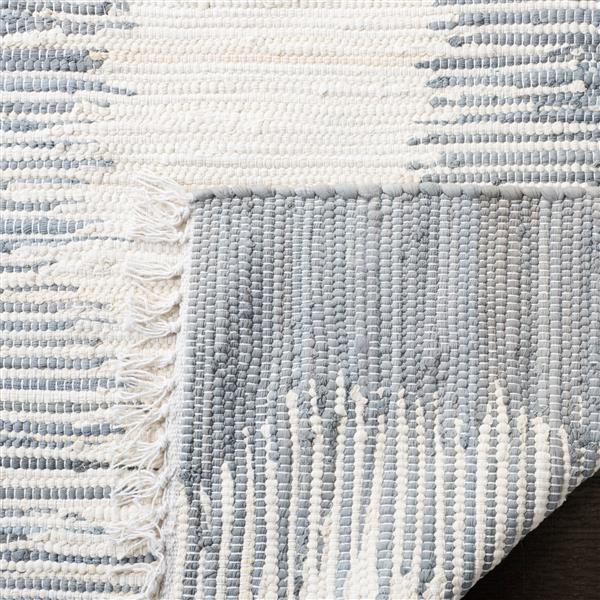 Safavieh Montauk Stripe Rug - 4' x 4' - Cotton - Gray