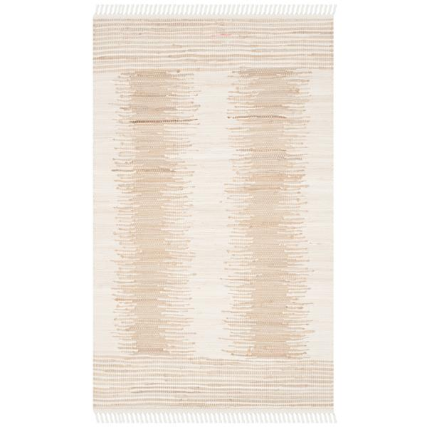 Safavieh Montauk Stripe Rug - 2.5' x 4' - Cotton - Beige
