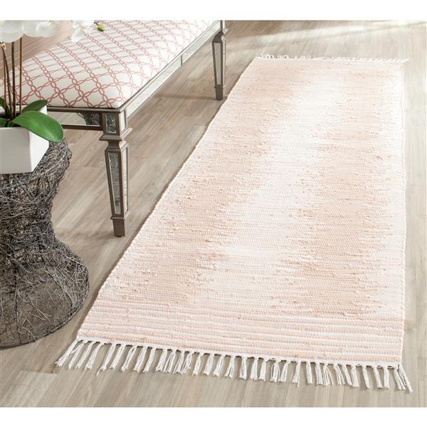 Safavieh Montauk Stripe Rug - 2.3' x 9' - Cotton - Beige