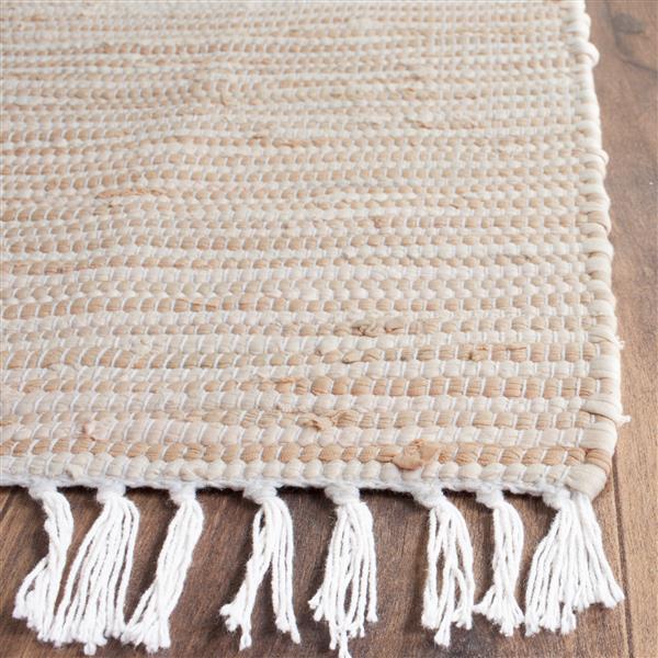 Safavieh Montauk Stripe Rug - 3' x 5' - Cotton - Beige