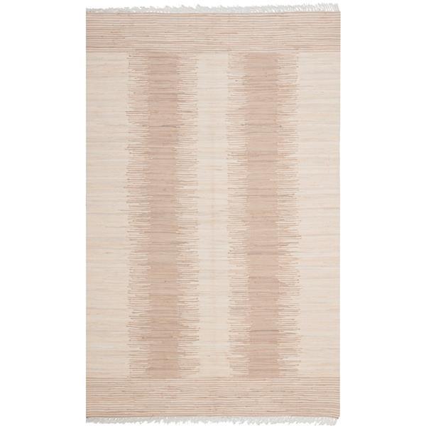 Safavieh Montauk Stripe Rug - 4' x 6' - Cotton - Beige