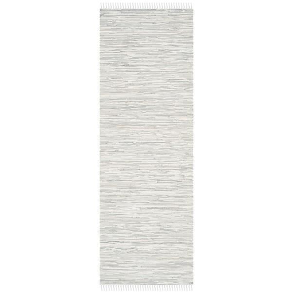 Safavieh Montauk Abstract Rug - 2.3' x 7' - Cotton - Silver